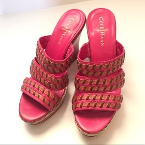 Cole Haan Nike sir pink wedges size 5.5